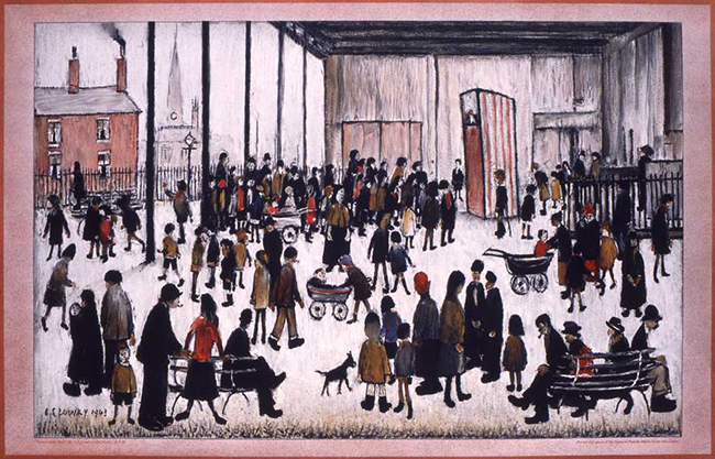 Punch and Judy, by L. S. Lowry