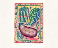 Asparagus, Aubergine & Artichoke, David Sim