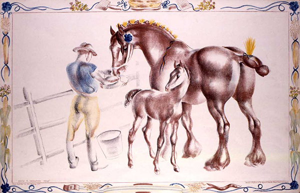Mare And Foal, by John Skeaping