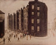 Dwellings, by LS Lowry