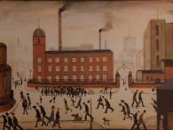 Red Factory, by LS Lowry